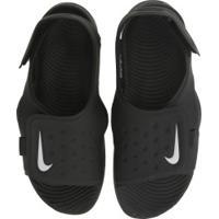 Papete Nike Sunray Adjust 5 - Infantil - Preto/Branco
