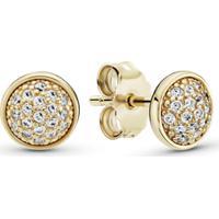 Brinco Petit Gotas De Ouro Brilhante -