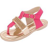 Sandália Bebê Plis Calçados Gatinha Feminina - Feminino-Pink