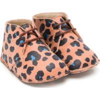 Gallucci Kids Sapato Com Animal Print - Rosa