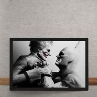 Quadro Decorativo Batman Coringa Arkham City Dc Comics 25X35