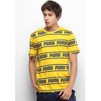 Camiseta Puma Amplified Masculina - Masculino-Mostarda