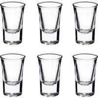 Conjunto De 6 Copos Para Shot Bebidas Vidro Para Festas Enfeite 35 Ml