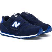 New Balance Kids Tênis Com Velcro E Logo - Azul