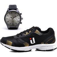 Tênis Masculino Ousy Shoes Training Academia Ultraleve Brinde Relógio Dourado