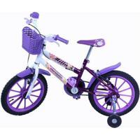 Bicicleta Infantil Aro 16 Milla Com Cestinha - Feminino