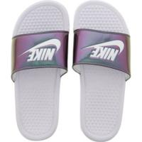 Chinelo Nike Benassi Jdi Print - Slide - Feminino - Branco