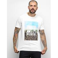 Camiseta Puma Photoprint Skyline Masculina - Masculino-Branco
