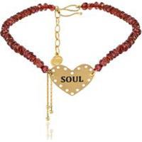 Pulseira Wishes Soul Amarelo Com Contas Facetadas - U