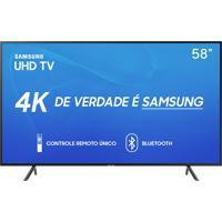 "Smart Tv Samsung 58"" Uhd 4K 2019 Un58Ru7100Gxzd Visual Livre De Cabos"