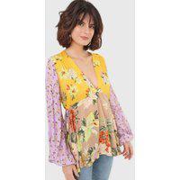 Blusa Dress To Bata Lirius Amarela/Bege