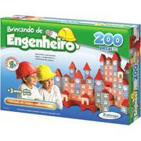 Brincando De Engenheiro 200 Peças - Xalingo - Unissex-Incolor