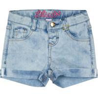 Short Jeans Com Bolsos - Azul Clarolilica Ripilica E Tigor T. Tigre