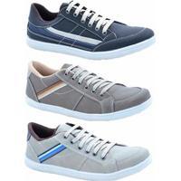 1e3fa95ea2c Netshoes  Kit 3 Pares Sapatênis Numeração Especial Dexshoes Masculino -  Masculino