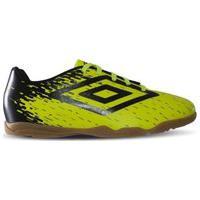 Chuteira Futsal Umbro Indoor Acid 0F82048 Infantil 773654-661, Cor: Amarelo/Preto, Tamanho: 28