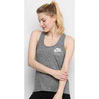 Regata Nike Gym Vntg Tank Feminina - Feminino-Chumbo