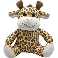 Girafa De Pelúcia 28Cm Sentada Nova