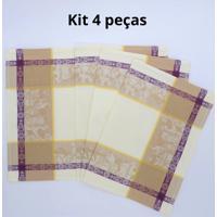Kit De 4 Pc. Jogo Americano Vendange Jaquarde 100% Algodão 35X47 Cm