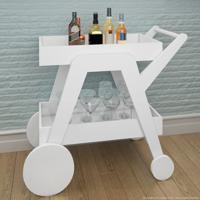 Bar/Carrinho Com Espelho Jb4004 Luxo Branco - Jb Bechara