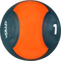 Medicine Ball Vollo Vp1001 1Kg Emborrachada Cinza/Laranja