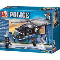 Blocos De Montar Policia Helicóptero De Combate 219 Peças Indicado Para +6 Anos Material Plástico Colorido Multikids - Br834 - Padrão