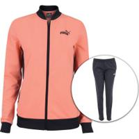 Agasalho Puma Classic Tricot Suit Op - Feminino - Rosa Cla/Cinza Esc