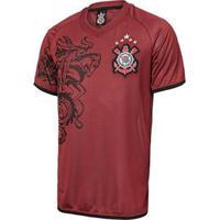 Camiseta Corinthians Réplica 2011 Masculina - Masculino-Grená