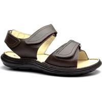 Sandália Masculina 917301 Em Couro Floater Doctor Shoes - Masculino-Café