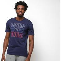 Camiseta Puma Puma Brand Graphic Masculina - Masculino-Marinho
