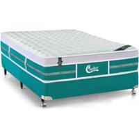 Colchão + Box De Molas Castor De Casal Green 138X188X71