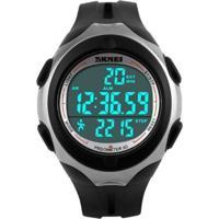 Relógio Skmei Digital Pedômetro 1107 Prata