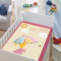 Cobertor Infantil Jolitex Tradicional Dia De Sol Rosa Bebe Feminino - Kanui