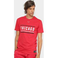 Camiseta New Era Nba Chicago Bulls Color Stripe Masculina - Masculino