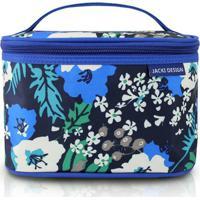 Necessaire Frasqueira Jacki Design Nylon - Feminino-Azul+Preto