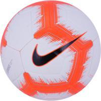 Bola De Futebol De Campo Nike Strike Fa18 - Branco/Laranja