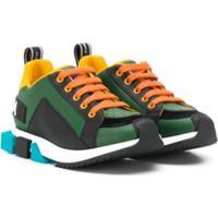 Dolce & Gabbana Kids Colour Block Sneakers - Verde