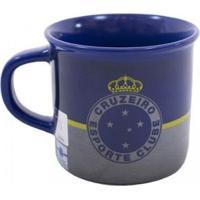 Caneca De Porcelana 400Ml Cruzeiro - Unissex-Azul