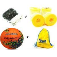 Kit Voleibol 5X1 1Rede4Faixas 1Cabo 1Marcador 1Mochila 1Bola Penalty - Outros