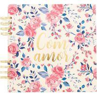 Álbum De Fotos Stz Com Amor Floral Rosa