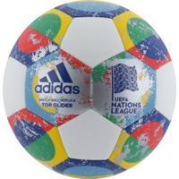 Bola De Futebol De Campo Adidas Uefa Top Glider - Branco/Verde