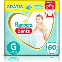 Fralda Pampers Pants Premium Care G 60 Unidades + 1 Par De Meias Infantis