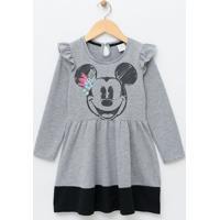 Vestido Infantil Com Estampa Mickey - Tam 6 A 14