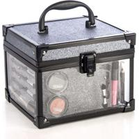 Maleta Clear Grafite Fenzza Make Up Fz-Mt98Gt-D