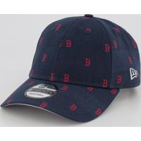 Boné New Era Mlb Boston Red Sox 920 Estampado Marinho