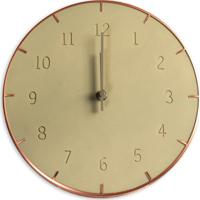 Relógio De Parede Piatto 25Cm Concreto