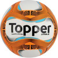 790ebf6cfc Bola De Futebol De Campo Topper Drible - Branco Laranja