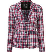 T Jacket Blusa Slim Xadrez - Vermelho