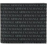 Armani Exchange Kit Carteira E Chaveiro - Azul