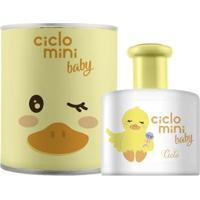Água De Colônia Ciclo Mini Quequé Ciclo Cosméticos Perfume Infantil - 100Ml - Unissex-Incolor