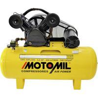 Compressor De Ar 5Hp Trifásico 220/380 Volts Cmv-20Pl/200 Motomil